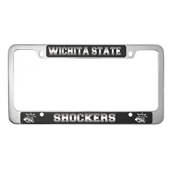 Wichita State University -Metal License Plate Frame-Black