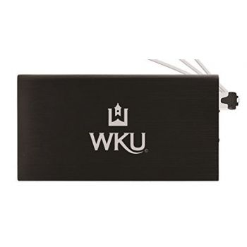 8000 mAh Portable Cell Phone Charger-Western Kentucky University -Black