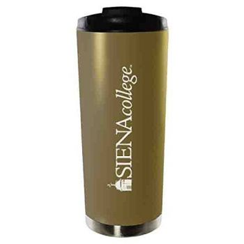 Siena College-16oz. Stainless Steel Vacuum Insulated Travel Mug Tumbler-Gold