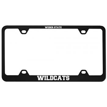 Weber State University -Metal License Plate Frame-Black