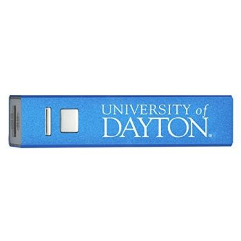 University of Dayton - Portable Cell Phone 2600 mAh Power Bank Charger - Blue
