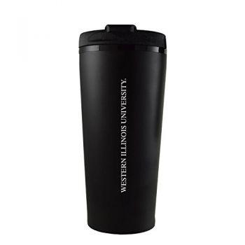 Western Illinois University -16 oz. Travel Mug Tumbler-Black