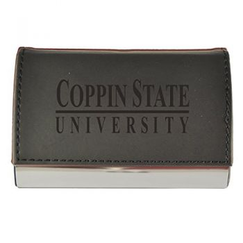 Velour Business Cardholder-Coppin State University-Black
