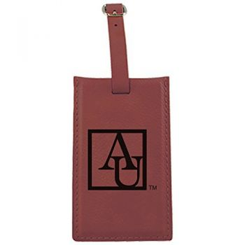 American University -Leatherette Luggage Tag-Burgundy