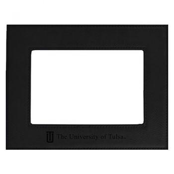 University of Tulsa-Velour Picture Frame 4x6-Black