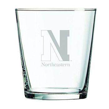 Northeastern University -13 oz. Rocks Glass