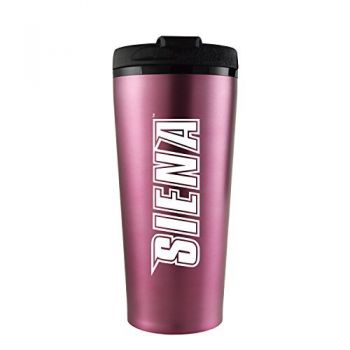 Siena College-16 oz. Travel Mug Tumbler-Pink