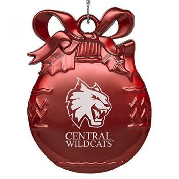 Central Washington University - Pewter Christmas Tree Ornament - Red