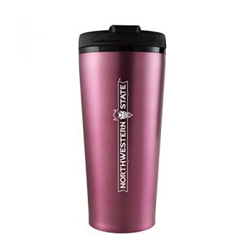 Northwestern State University -16 oz. Travel Mug Tumbler-Pink