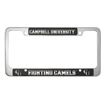 Campbell University -Metal License Plate Frame-Black