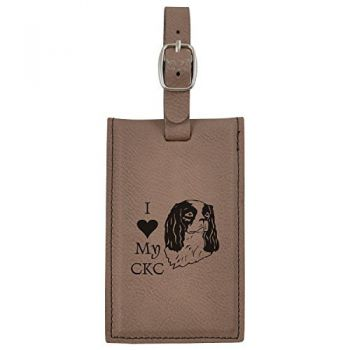 Travel Baggage Tag with Privacy Cover  - I Love My Cavalier King Charles