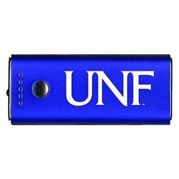 University of North Florida-Portable Cell Phone 5200 mAh Power Bank Charger -Blue