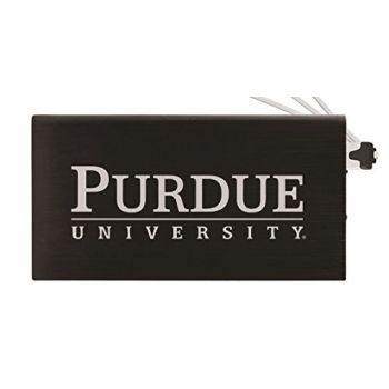 8000 mAh Portable Cell Phone Charger-Purdue University -Black