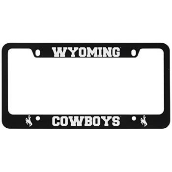 University of Wyoming -Metal License Plate Frame-Black