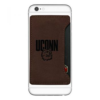 University of Connecticut-Cell Phone Card Holder-Brown