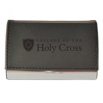 Velour Business Cardholder-College of the Holy Cross-Black