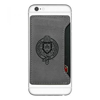 Fordham University-Cell Phone Card Holder-Grey