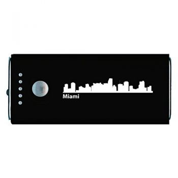 Quick Charge Portable Power Bank 5200 mAh - Miami City Skyline