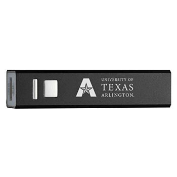 University of Texas at Arlington - Portable Cell Phone 2600 mAh Power Bank Charger - Black