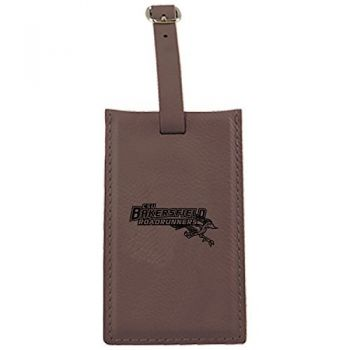 California State University, Bakersfield-Leatherette Luggage Tag-Brown