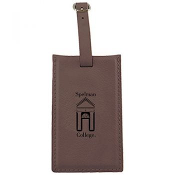 Spelman College -Leatherette Luggage Tag-Brown