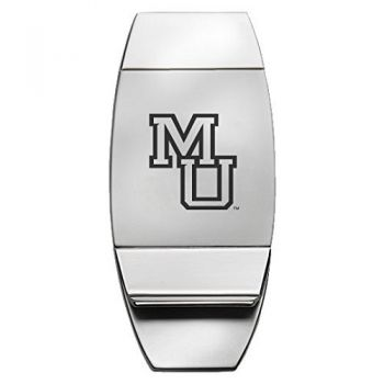 Mercer University - Two-Toned Money Clip - Silver