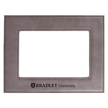 Bradley University-Velour Picture Frame 4x6-Grey