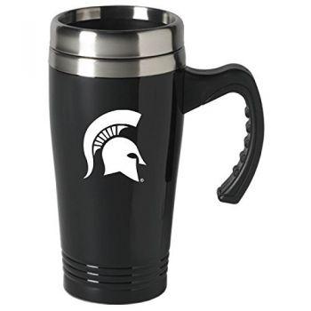 Michigan State University-16 oz. Stainless Steel Mug-Black