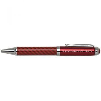 Arkansas State University -Carbon Fiber Ballpoint Pen-Red