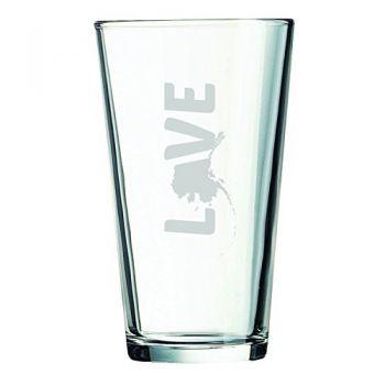 16 oz Pint Glass  - Alaska Love - Alaska Love
