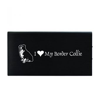 Quick Charge Portable Power Bank 8000 mAh  - I Love My Border Collie