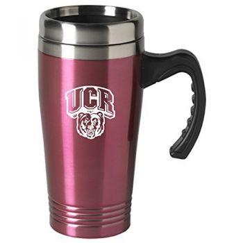 University of California, Riverside-16 oz. Stainless Steel Mug-Pink
