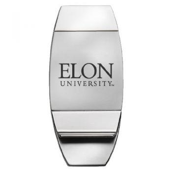 Elon University - Two-Toned Money Clip - Silver
