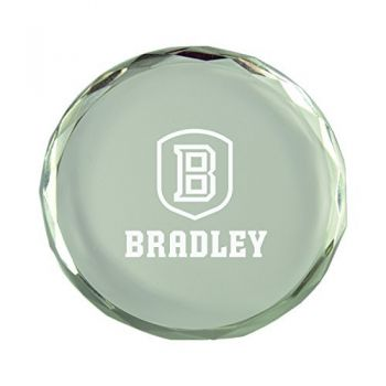 Bradley University-Crystal Paper Weight