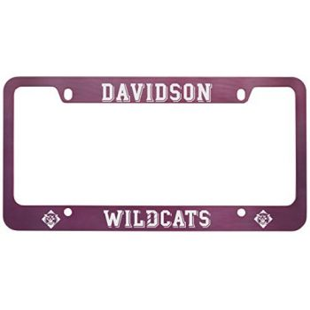 Davidson College-Metal License Plate Frame-Pink