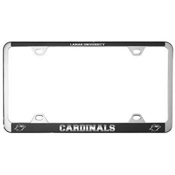 Lamar University-Metal License Plate Frame-Black