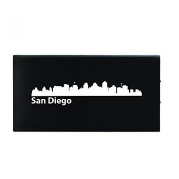 San Diego, California-8000 mAh Portable Cell Phone Charger-Black