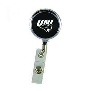 University of Northern Iowa-Retractable Badge Reel-Black