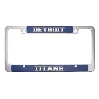 University of Detroit Mercy-Metal License Plate Frame-Blue