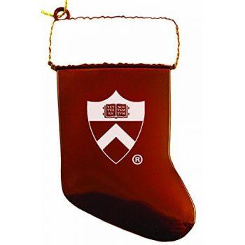 Princeton University - Chirstmas Holiday Stocking Ornament - Orange