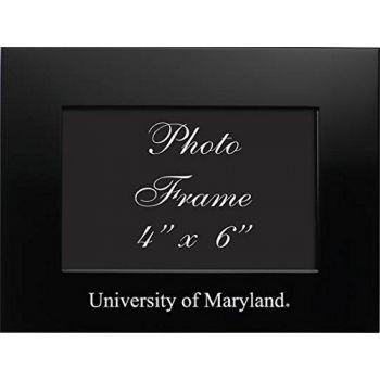 University of Maryland - 4x6 Brushed Metal Picture Frame - Black