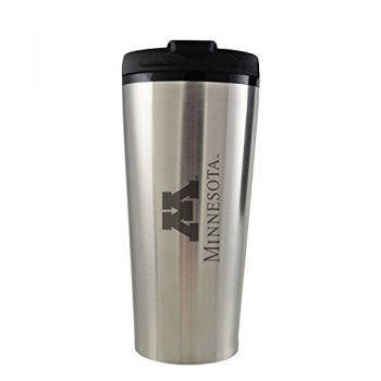 University of Minnesota -16 oz. Travel Mug Tumbler-Silver