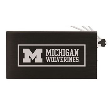 8000 mAh Portable Cell Phone Charger-University of Michigan -Black