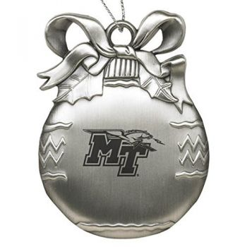 Middle Tennessee State University - Pewter Christmas Tree Ornament - Silver
