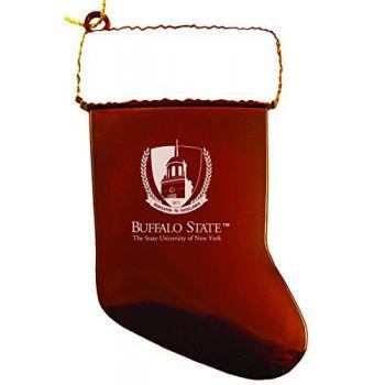 Buffalo State, State University of New York - Christmas Holiday Stocking Ornament - Orange