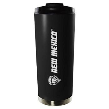 University of New Mexico-16oz. Stainless Steel Vacuum Insulated Travel Mug Tumbler-Black