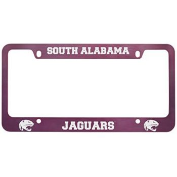 University of South Alabama -Metal License Plate Frame-Pink