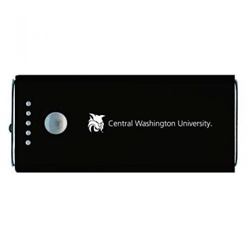 Central Washington University -Portable Cell Phone 5200 mAh Power Bank Charger -Black