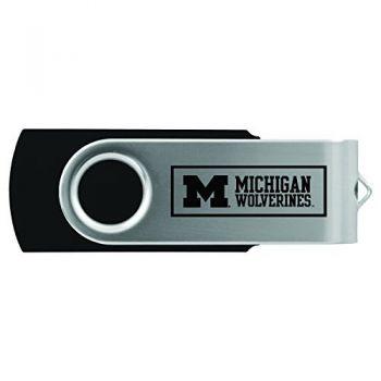 University of Michigan -8GB 2.0 USB Flash Drive-Black