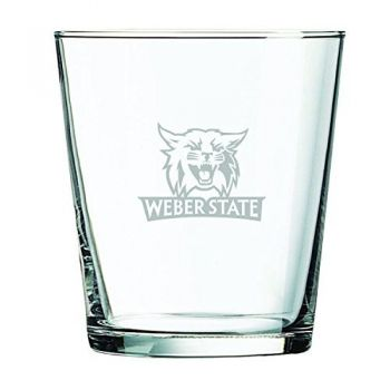 Weber State University -13 oz. Rocks Glass